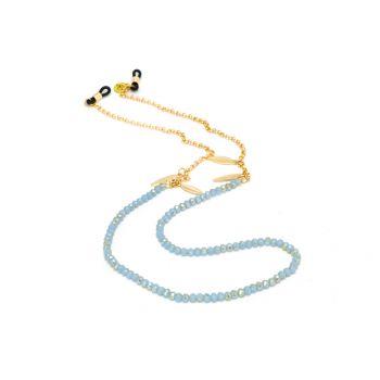 Sunny Cords Light Blue Sunglass Chain - Bead It