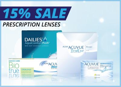 15% Discount on prescription Lenses